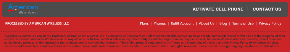 Pageplus Cellular Footer